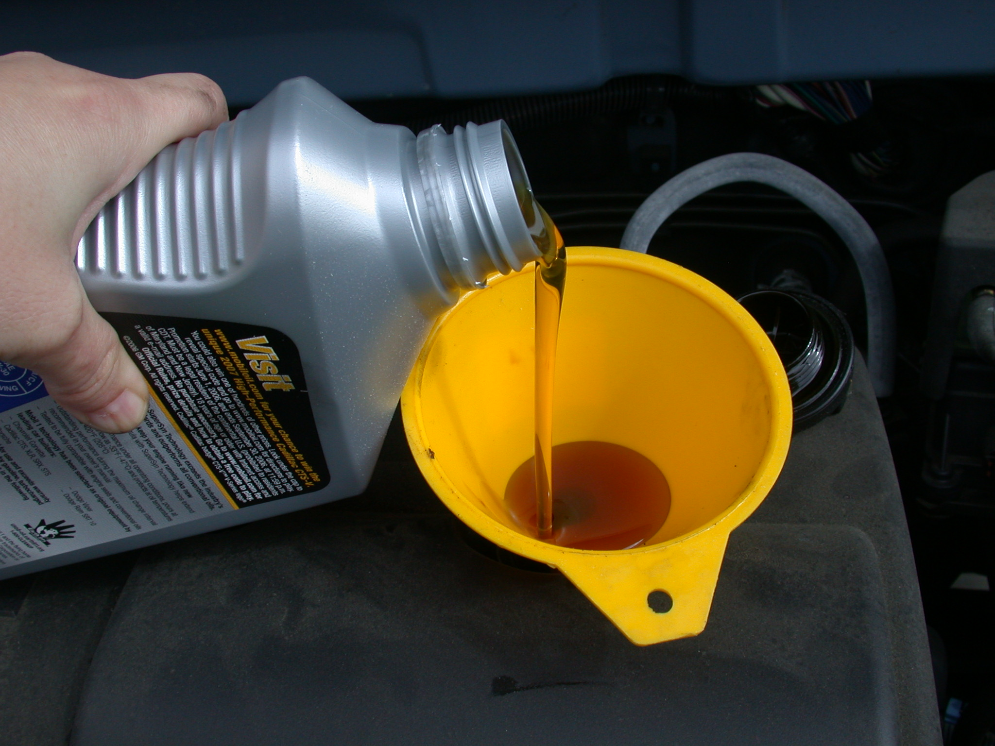 refill with oil
